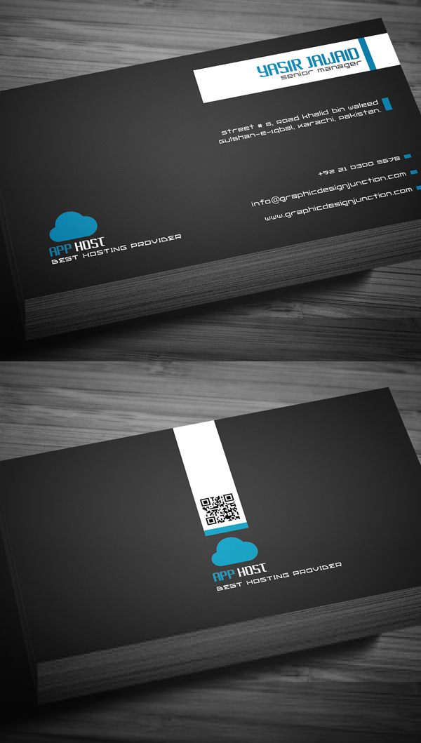 Free Hosting Company Business Card Template