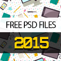 Post Thumbnail of 25 Free PSD Files for New Year 2015