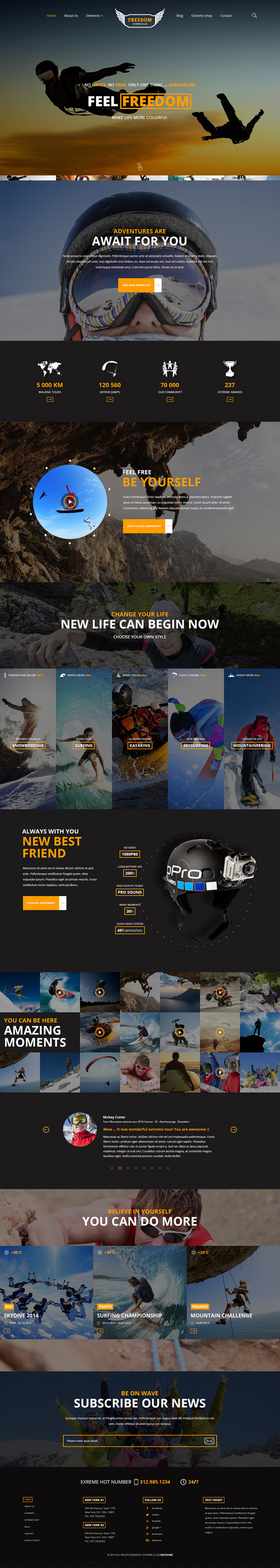 Freedom Extreme Club - Powerful HTML Template