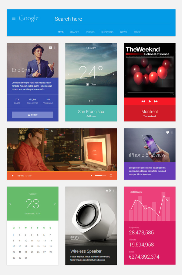 Material Design Ui Kit HTML version