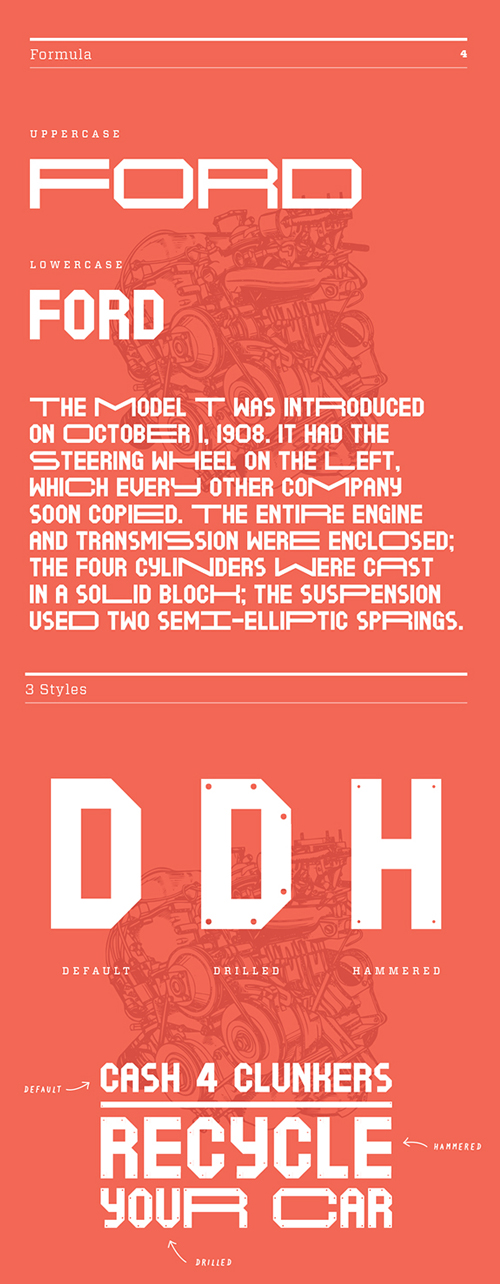 Motorless Free Font for Hipsters