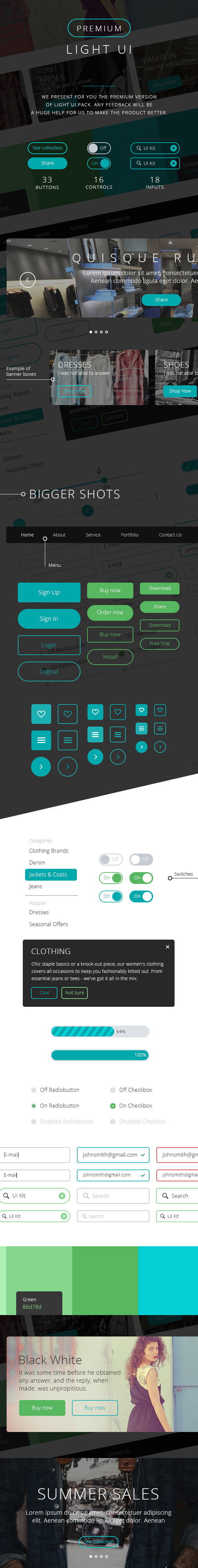Premium Light UI Kit