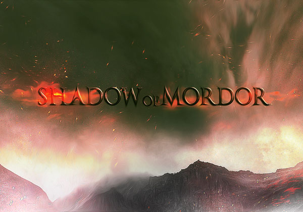 Create Dark Text Effect Inspired by Middle Earth: Shadow of Mordor Game in Photoshop