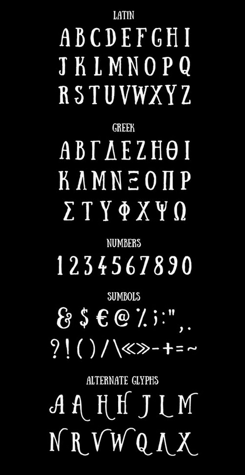 Sunday Font Letters