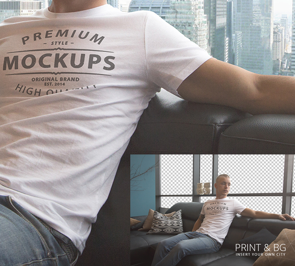 T-shirt PSD Mockup - Free Download