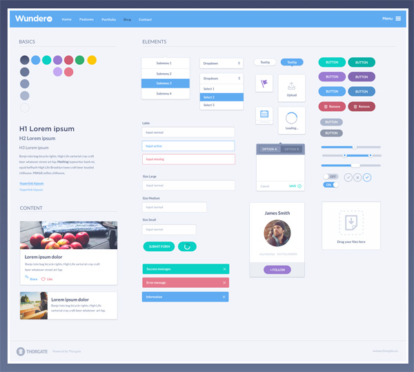 WunderUI - Sketch 3 UI Freebie