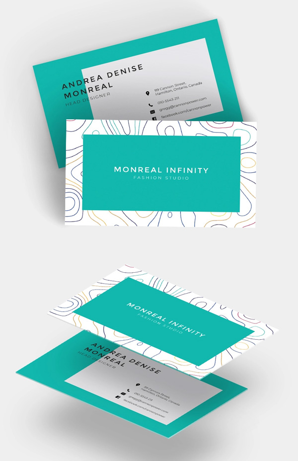 Creative Business Card Template for Fashion Designers
