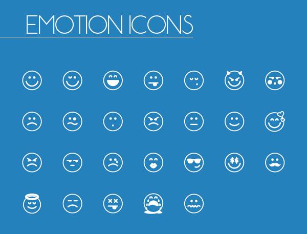 Emotion Line and Solid Icons