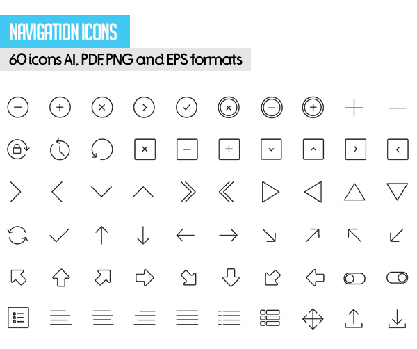 Free Vector Stroke Icons - 2