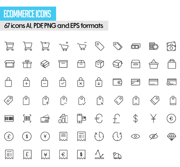 Free Vector Stroke Icons - 3