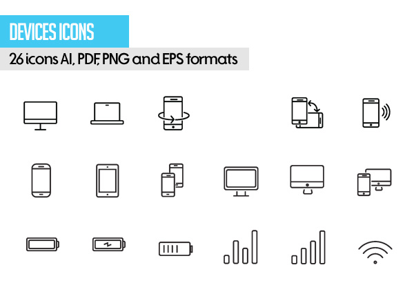 Free Vector Stroke Icons - 6