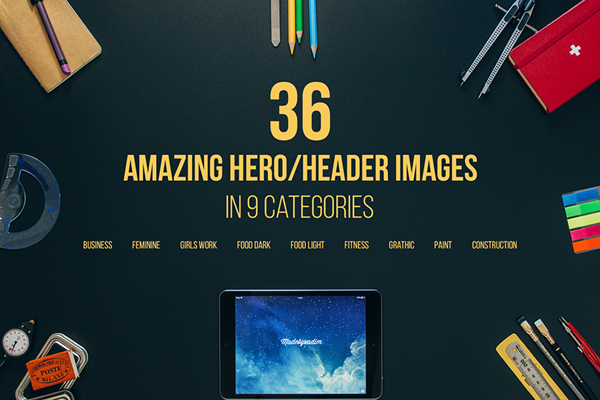 Header Images Best for landing page, website header, blogs, presentation or projects