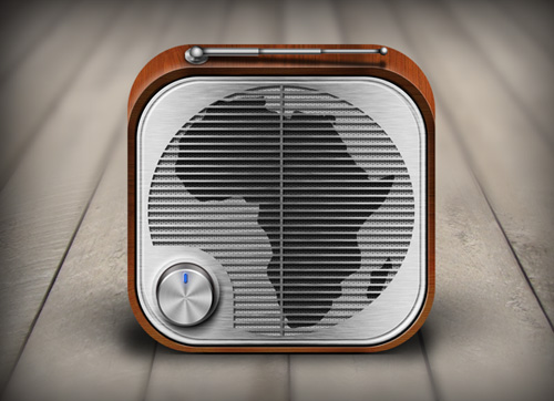 iOS Radio App Icon for Africa UK Radio