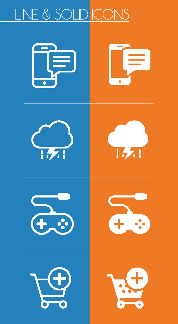 Free Vector Line and Solid Icons
