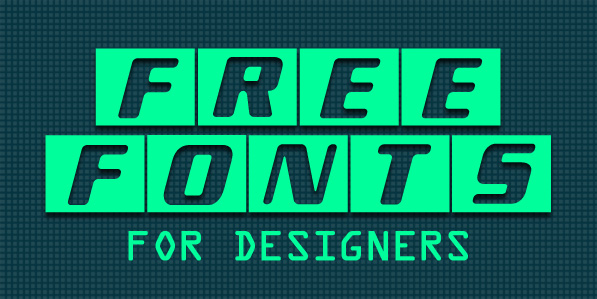 18 New Free Fonts For Designers