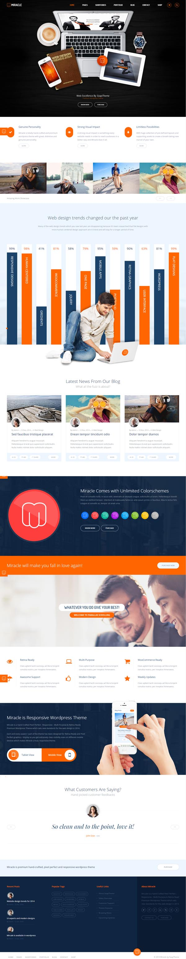 Miracle - Responsive Multi-Purpose HTML5 Template
