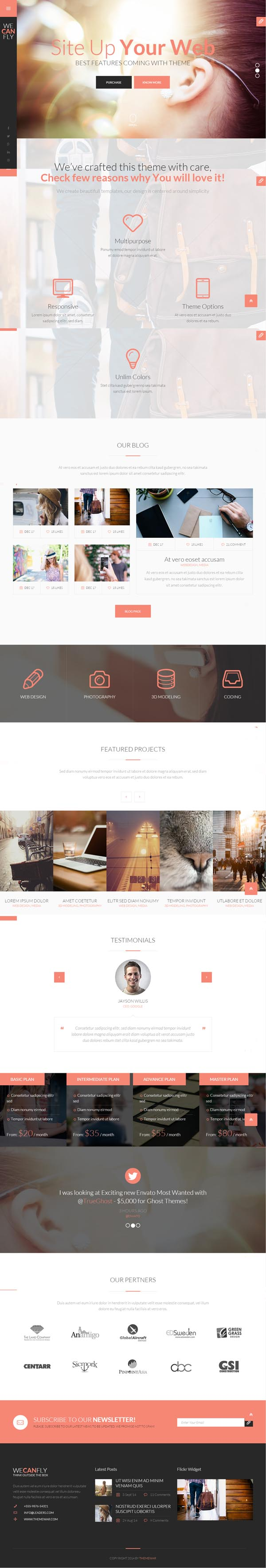 WeCanFly - Multipurpose Respnsive HTML5 Business Template