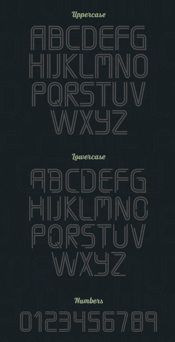 Timber Font Letters