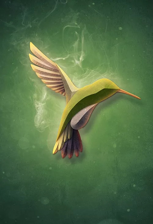 Create a Textured Bird with Smoke in Photoshop Tutorial