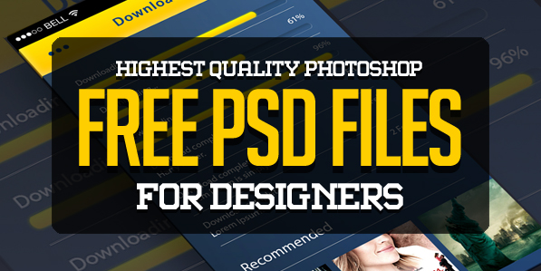 25 New Photoshop Free PSD Files for Designers