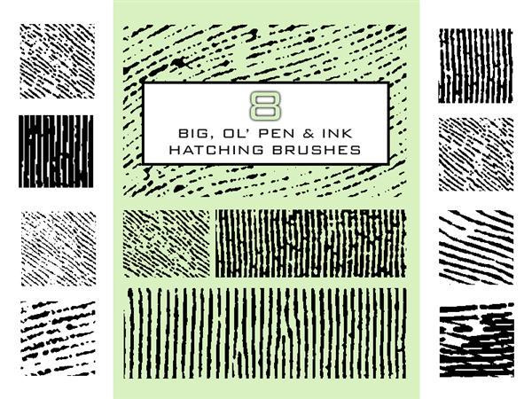 Pen And Ink Hatching Brushes For Photoshop