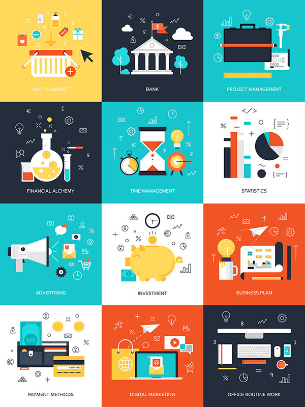 Abstract flat vector illustration concept
