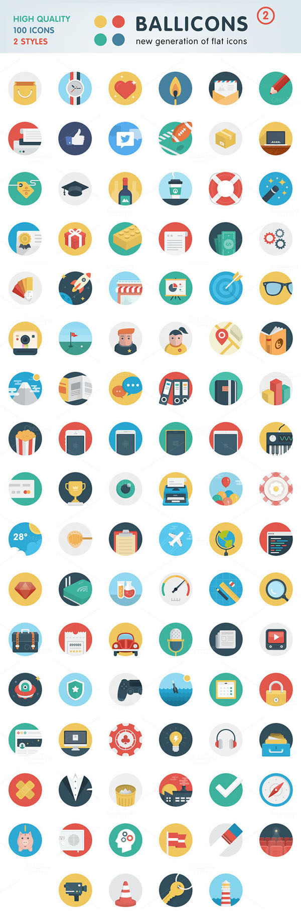 Ballicons 2 Bundle (200 icons)
