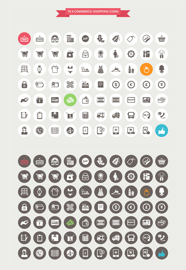 Free Round Flat Icon Psd Material