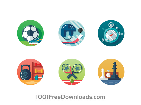 Free download sports icons for Web and App UI