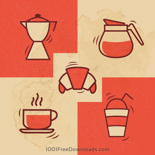 Free coffee icons for ui design