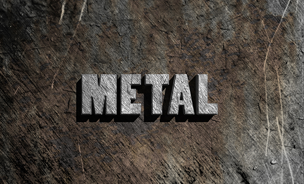 Create a Simple 3D Text Metal Effect in Adobe Photoshop