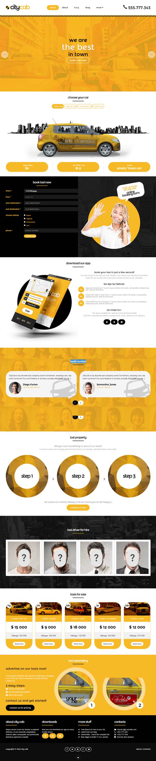 CityCab - Taxi Company Responsive HTML Template