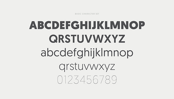 Geomanist font letters