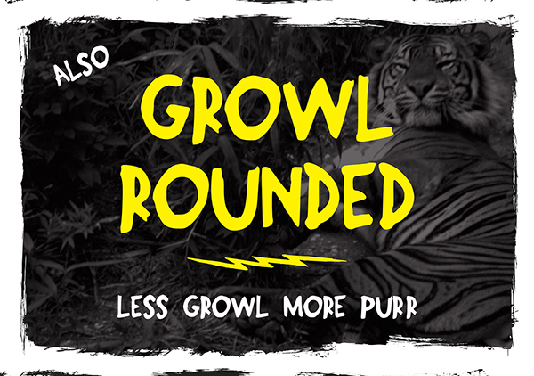 Growl Rounded free font