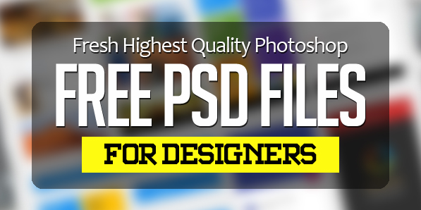 26 New Photoshop Free PSD Files for Designers