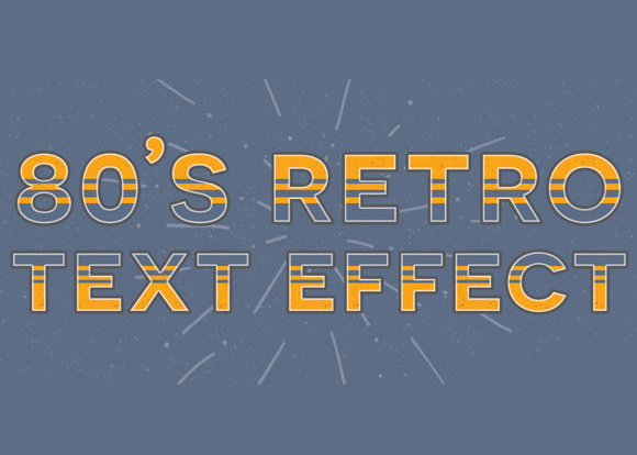Create a Retro Text Effect in Adobe Photoshop