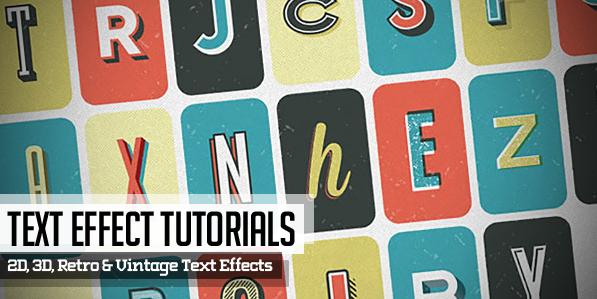 22 New Text Effects Tutorials for Designers
