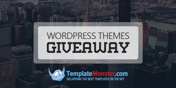 TemplateMonster Giveaway of Any 10 WordPress Themes