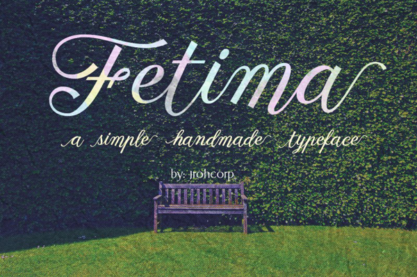 Fetima is handwritten stylish and simple calligraphy font