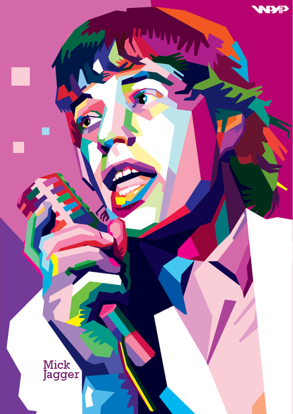 Mick Jagger In WPAP by ARaFah