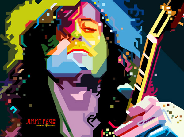 Jimmy Page WPAP by adi-yulianto