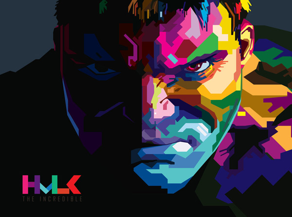 HULK in WPAP by 8lackhand
