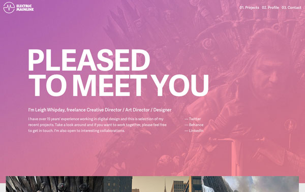 One Page Websites – 42 New Web Examples - 28