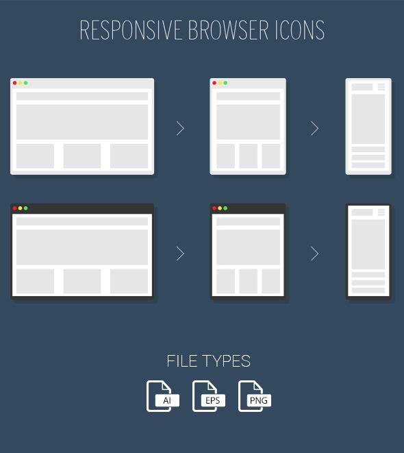 Free Responsive Browser Icons PSD