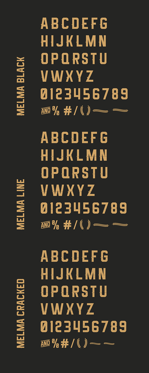 Melma Font Letters