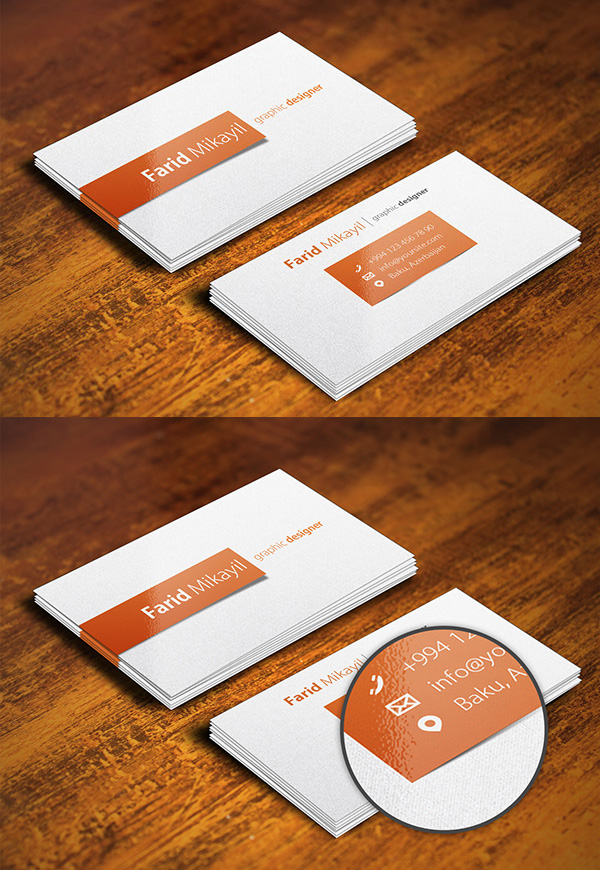 Free Business Card Mock Up