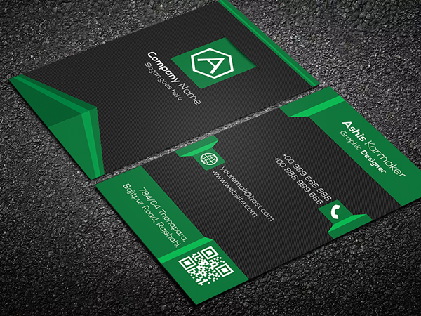 Free Shadows Business Card PSD