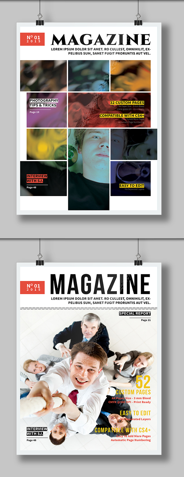 Free Magazine Cover Template