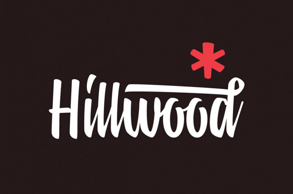 Hillwood is a contemporary brush script
