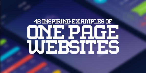 One Page Websites – 42 New Web Examples